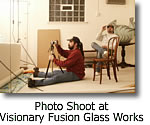 Photo Shoot at Visionary Fusion Glass Works
